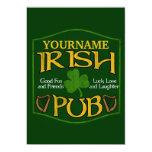 Muestra irlandesa personalizada del Pub Invitación Personalizada