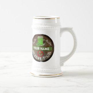Muestra irlandesa personalizada del pub jarra de cerveza