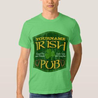 Muestra irlandesa personalizada del Pub Playeras