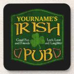 Muestra irlandesa personalizada del Pub Posavasos
