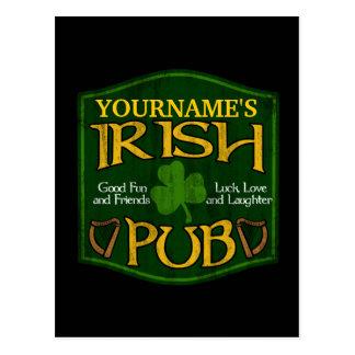 Muestra irlandesa personalizada del Pub Postales