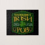 Muestra irlandesa personalizada del Pub Rompecabezas
