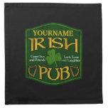 Muestra irlandesa personalizada del Pub Servilletas