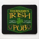 Muestra irlandesa personalizada del Pub Tapete De Raton