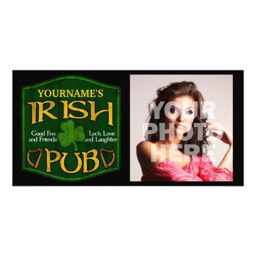 Muestra irlandesa personalizada del Pub Tarjeta Fotográfica