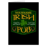 Muestra irlandesa personalizada del Pub Tarjetón