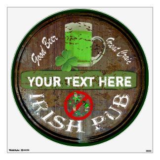 Muestra irlandesa personalizada del pub vinilo adhesivo