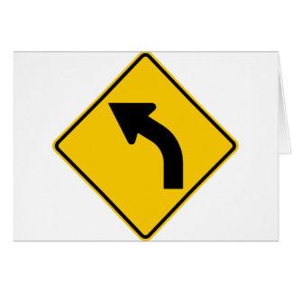 Muestra izquierda de la carretera de la curva a tarjeta de felicitación