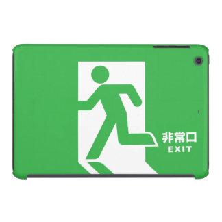 Muestra japonesa de la salida de emergencia