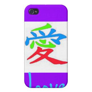 Muestra japonesa para el amor iPhone 4/4S fundas