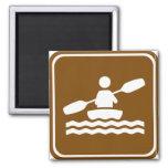 Muestra Kayaking de la carretera Imán Cuadrado