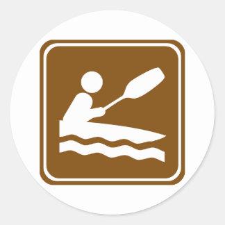 Muestra Kayaking de la carretera Pegatinas