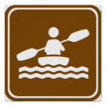 Muestra Kayaking de la carretera Póster