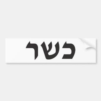 Muestra kosher pegatina para auto