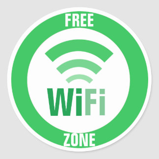 Muestra libre de WiFi Pegatina Redonda