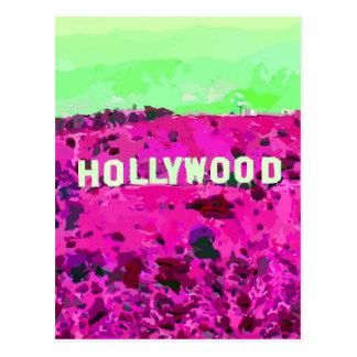 Muestra Los Ángeles California de Hollywood Tarjeta Postal