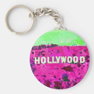 Muestra Los Ángeles de Hollywood Llavero Redondo Tipo Pin