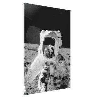 Muestra lunar del suelo impresión en lona estirada