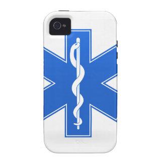 Muestra médica azul iPhone 4/4S funda
