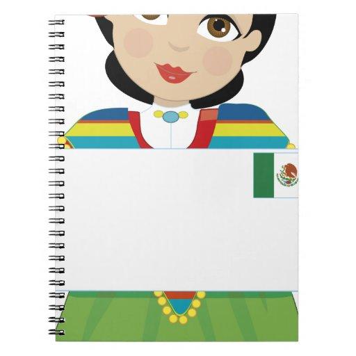 Muestra mexicana del chica cuaderno