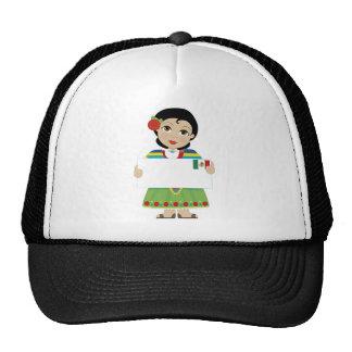 Muestra mexicana del chica gorros