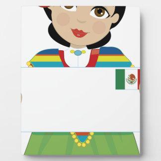 Muestra mexicana del chica placas