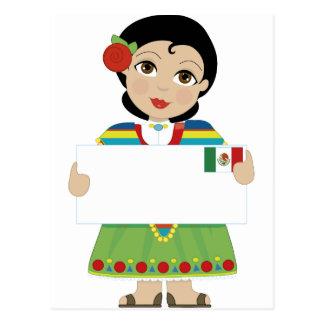 Muestra mexicana del chica postales