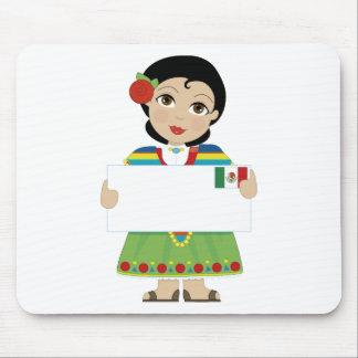 Muestra mexicana del chica tapetes de raton