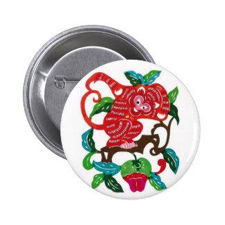 Muestra Mono-China del zodiaco Pin