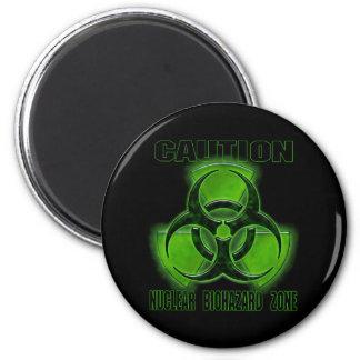 Muestra nuclear de la precaución del Biohazard Imán Para Frigorífico
