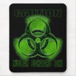 Muestra nuclear de la precaución del Biohazard Mousepads