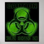 Muestra nuclear de la precaución del Biohazard Posters