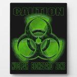 Muestra nuclear de la precaución del Biohazard Placa