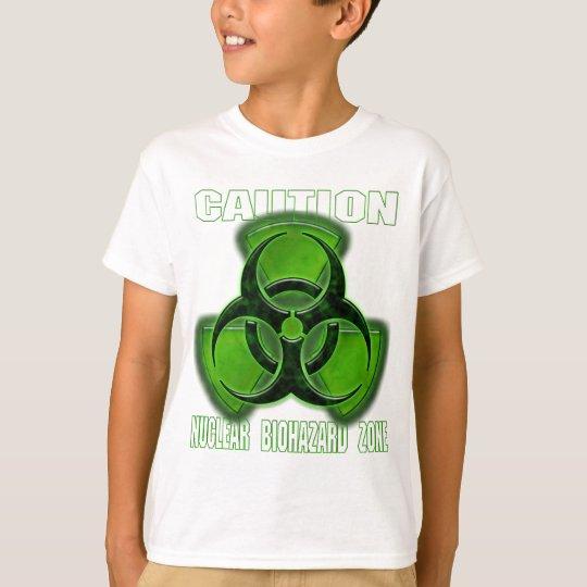 Muestra nuclear de la precaución del Biohazard Playera
