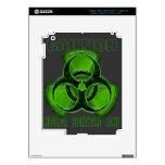 Muestra nuclear de la precaución del Biohazard iPad 3 Pegatinas Skins