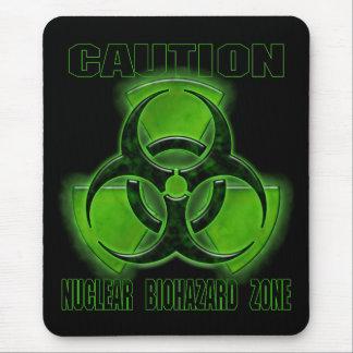 Muestra nuclear de la precaución del Biohazard Alfombrilla De Ratones