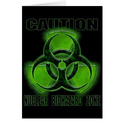 Muestra nuclear de la precaución del Biohazard Tarjetón