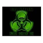 Muestra nuclear de la precaución del Biohazard Postal