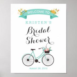 Muestra nupcial de la ducha de la bicicleta póster