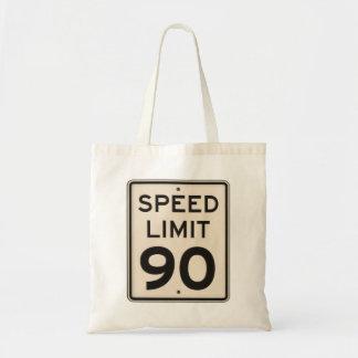 Muestra oficial 90mph noventa del límite de bolsa tela barata