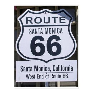 Muestra oficial Santa Mónica del extremo de la Postal