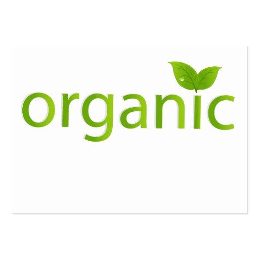 Muestra orgánica tarjetas de visita grandes