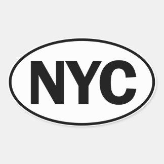 Muestra oval de la identidad de NYC Pegatina Ovalada