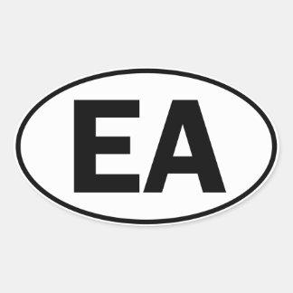 Muestra oval de la identidad del EA Pegatina Ovalada