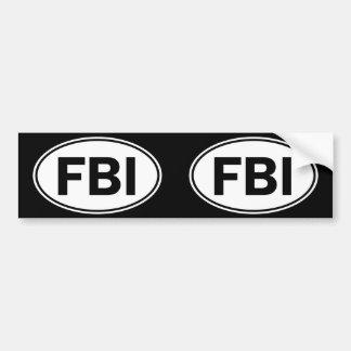Muestra oval de la identidad del FBI Pegatina Para Auto