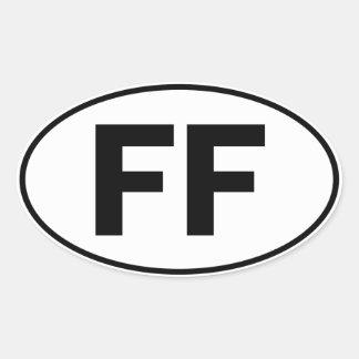 Muestra oval de la identidad del FF Pegatina Ovalada