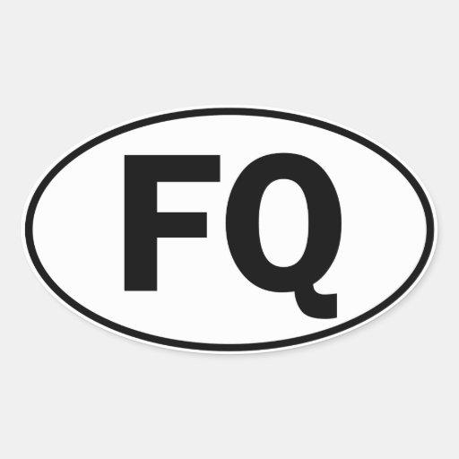 Muestra oval de la identidad del fq etiqueta