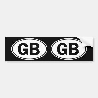 Muestra oval de la identidad del GB Pegatina Para Coche