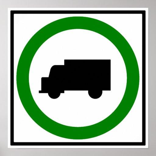 Muestra permitida de la carretera del tráfico de c póster