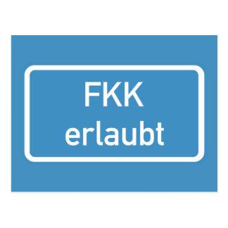 Muestra permitida nudismo, Alemania Postal